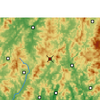 Nearby Forecast Locations - Wuping - Χάρτης