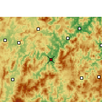 Nearby Forecast Locations - Yong'an - Χάρτης