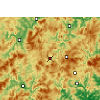 Nearby Forecast Locations - Datian - Χάρτης