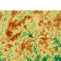 Nearby Forecast Locations - Zhangping - Χάρτης