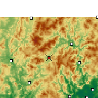 Nearby Forecast Locations - Longyan - Χάρτης