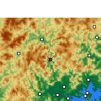 Nearby Forecast Locations - Hua'an - Χάρτης