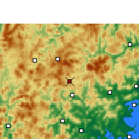 Nearby Forecast Locations - Dehua - Χάρτης