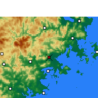 Nearby Forecast Locations - Putian - Χάρτης