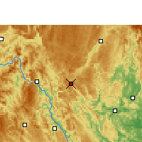 Nearby Forecast Locations - Nandan - Χάρτης