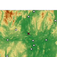 Nearby Forecast Locations - Liucheng - Χάρτης