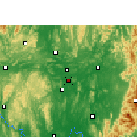 Nearby Forecast Locations - Liuzhou - Χάρτης