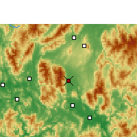 Nearby Forecast Locations - Fuchuan - Χάρτης