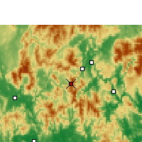Nearby Forecast Locations - Lianshan - Χάρτης