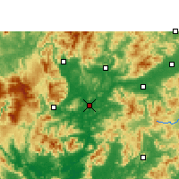 Nearby Forecast Locations - Shaoguan - Χάρτης