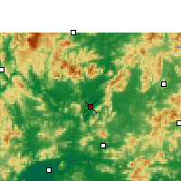Nearby Forecast Locations - Yingde - Χάρτης