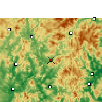 Nearby Forecast Locations - Yongding - Χάρτης