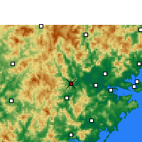 Nearby Forecast Locations - Nanjing/FUJ - Χάρτης