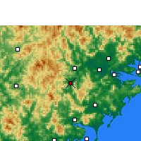Nearby Forecast Locations - Pinghe - Χάρτης