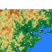 Nearby Forecast Locations - Zhangzhou - Χάρτης