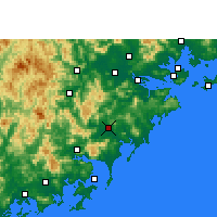 Nearby Forecast Locations - Zhangpu - Χάρτης