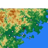 Nearby Forecast Locations - Tong'an - Χάρτης
