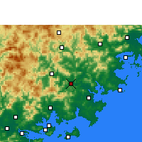 Nearby Forecast Locations - Nan'an - Χάρτης
