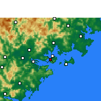 Nearby Forecast Locations - Xiamen - Χάρτης