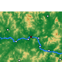 Nearby Forecast Locations - Wuzhou - Χάρτης