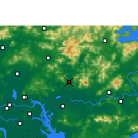 Nearby Forecast Locations - Zengcheng - Χάρτης