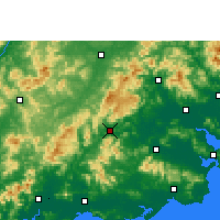 Nearby Forecast Locations - Jiexi - Χάρτης