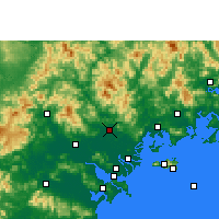 Nearby Forecast Locations - Chaozhou - Χάρτης