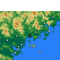 Nearby Forecast Locations - Raoping - Χάρτης