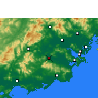 Nearby Forecast Locations - Puning - Χάρτης
