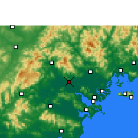 Nearby Forecast Locations - Jieyang - Χάρτης