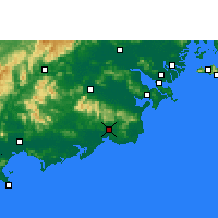 Nearby Forecast Locations - Huilai - Χάρτης