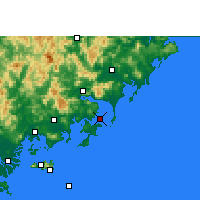 Nearby Forecast Locations - Dongshan - Χάρτης