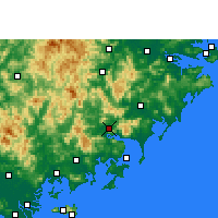 Nearby Forecast Locations - Yunxiao - Χάρτης