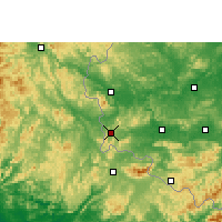 Nearby Forecast Locations - Pingxiang - Χάρτης