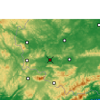 Nearby Forecast Locations - Ningming - Χάρτης