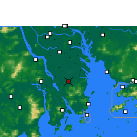 Nearby Forecast Locations - Zhongshan/GUD - Χάρτης