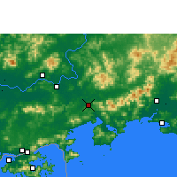 Nearby Forecast Locations - Huidong/GUD - Χάρτης
