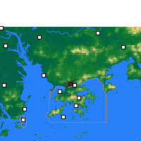 Nearby Forecast Locations - Σεντζέν - Χάρτης