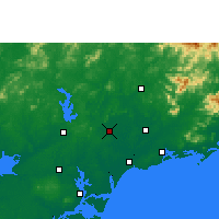 Nearby Forecast Locations - Huazhou - Χάρτης