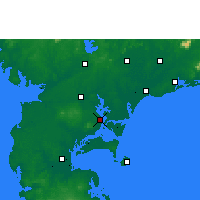 Nearby Forecast Locations - Zhanjiang - Χάρτης
