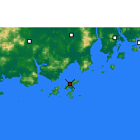 Nearby Forecast Locations - Shangchuan. - Χάρτης