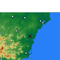 Nearby Forecast Locations - Qionghai - Χάρτης