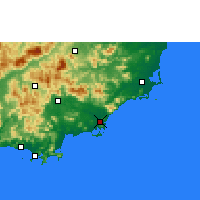 Nearby Forecast Locations - Lingshui - Χάρτης
