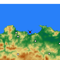 Nearby Forecast Locations - Skikda - Χάρτης