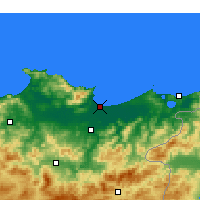 Nearby Forecast Locations - Annaba - Χάρτης
