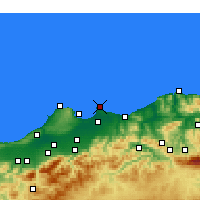 Nearby Forecast Locations - Bordj-El-Bahri - Χάρτης