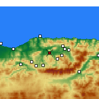 Nearby Forecast Locations - Tizi Ouzou - Χάρτης