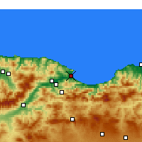 Nearby Forecast Locations - Béjaïa - Χάρτης