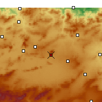 Nearby Forecast Locations - Oum El Bouaghi - Χάρτης