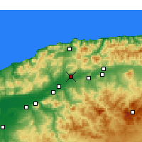 Nearby Forecast Locations - Chlef - Χάρτης